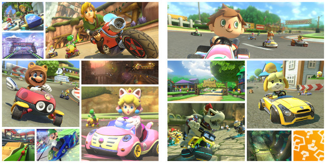 Mario Kart 8 DLC Add On Content Packs Wii U Dry Bowser Villager Animal Crossing
