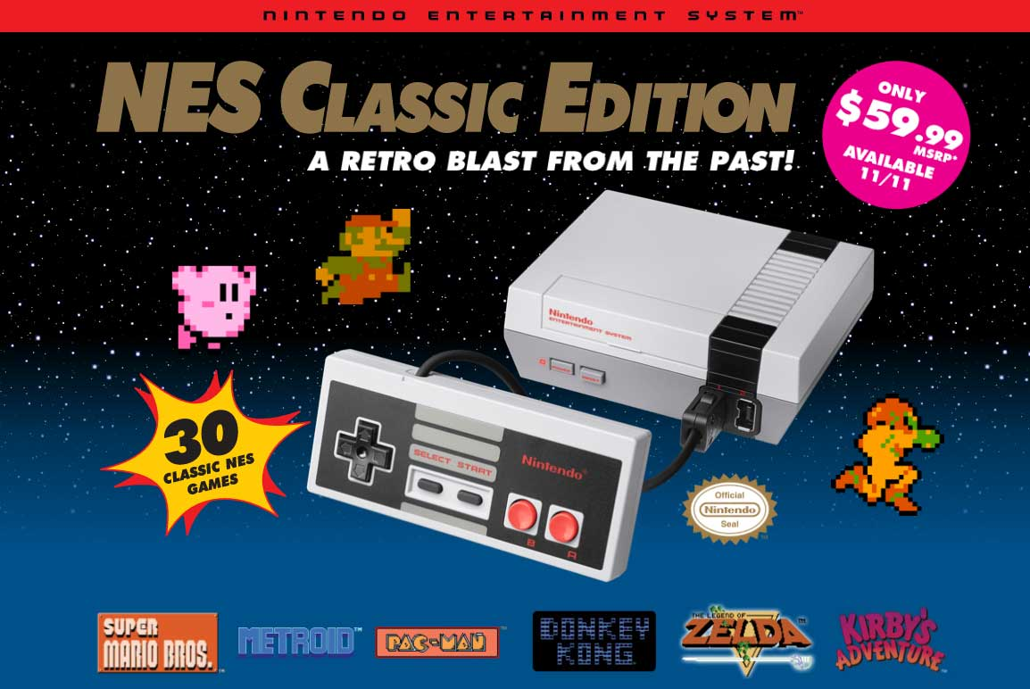 NES Classic Edition A Retro Blast form the Past Image Credit: https://www.nintendo.com/