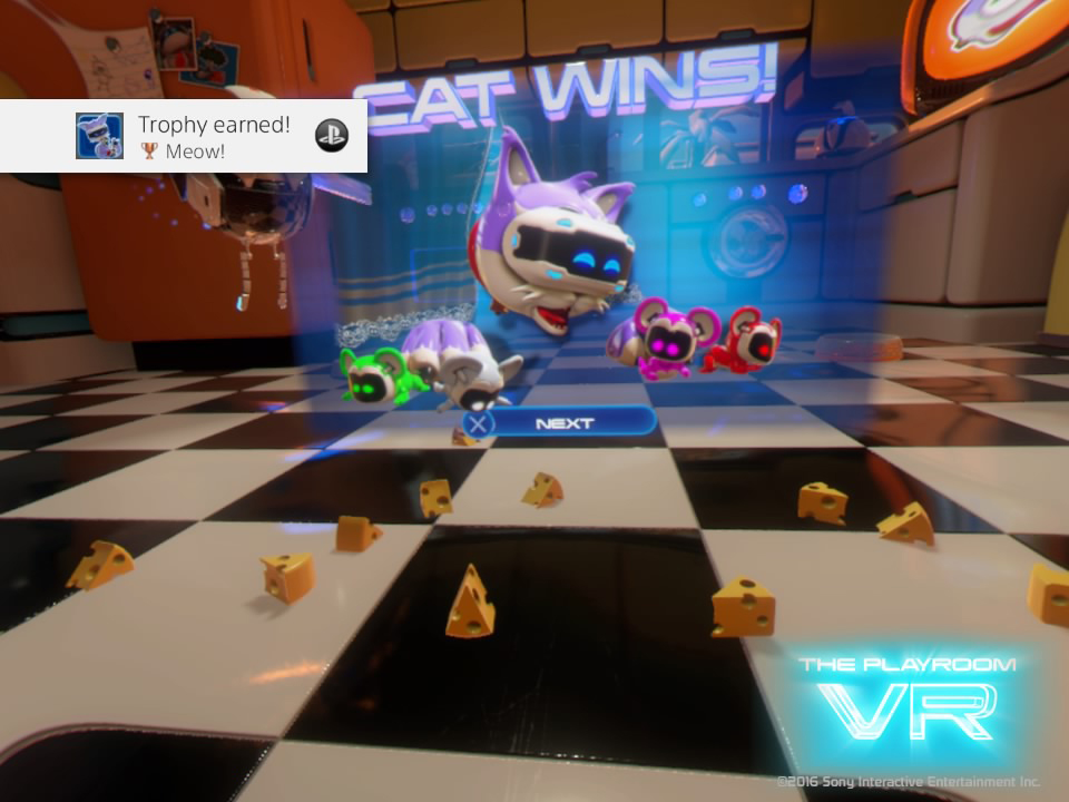 PlayStaion VR Playroom VR Cat