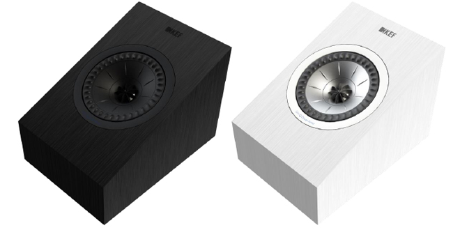 kef atmos. kef q50a dolby atmos module ($500 per pair) - the two-way closed box speaker is designed to sit atop a user\u0027s existing speaker, firing sound upward kef