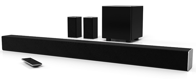 Vizio Sb3851 D0 Smartcast38 5 1 Sound Bar System 250 Expanding Upon The 2 Channel Sb3821 D6 This Model Includes A Compact