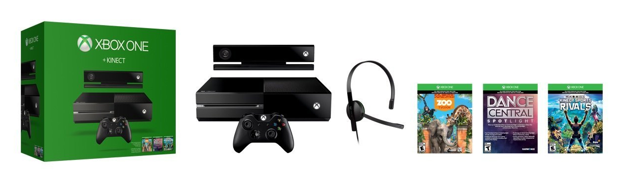 Xbox One + Kinect Bundle with 3 games