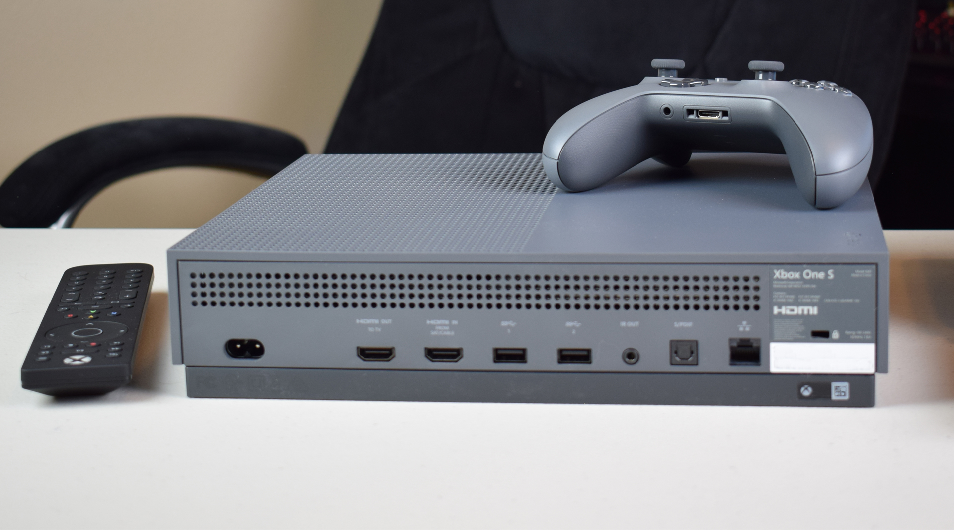 Xbox One S Ultra HD Blu-ray Player Update Dolby Atmos & DTS:X HDR10 Bistream Rear Ports HDMI Out