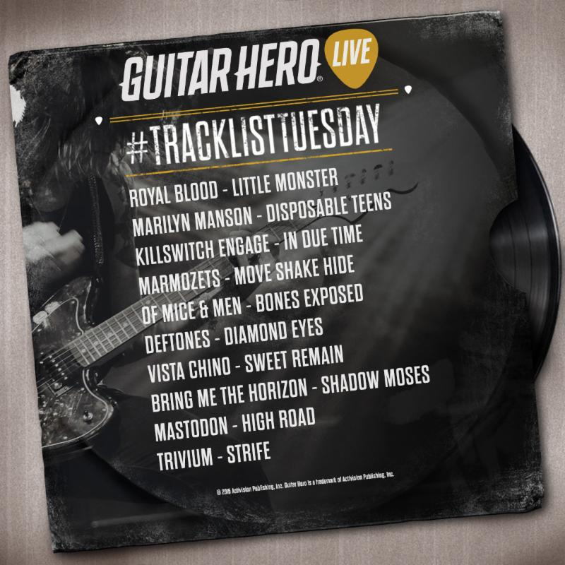Guitar Hero Live May 19 Track List