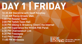 PAX South stream day 1