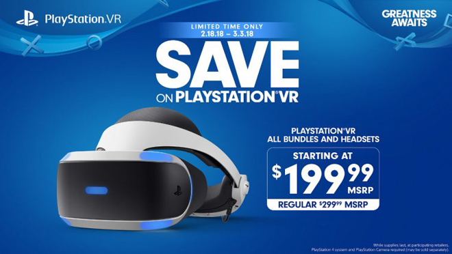 Sony takes $100 off PS VR bundles starting February 18
