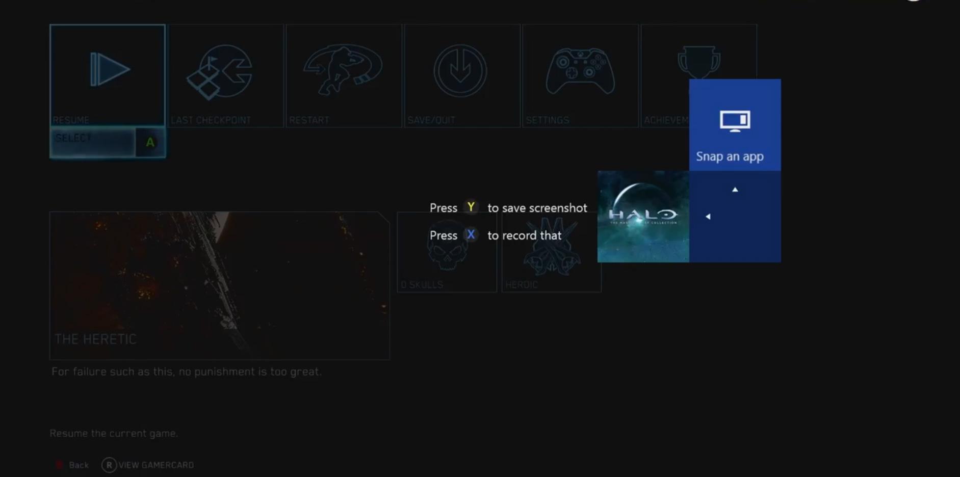 Xbox One Screenshot a Screenshot on Xbox One